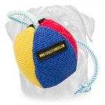 Colorful French Linen Toy on String for Training and Playing 4 1/3 inch (11 cm)