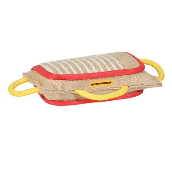 Dog Training Bite Pad Made of Jute with 3 Handles for Rottweilers
