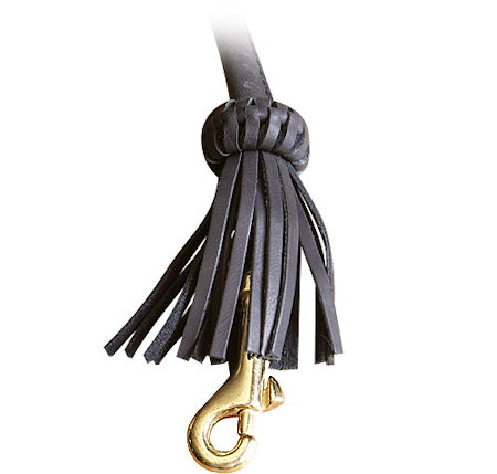 Rolled Leather Dog Leash 4 foot Round lead for Rottweiler
