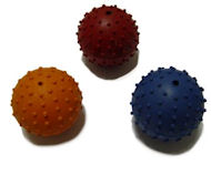 Rottweiler training toy with rubber ball with bell inside - 2 1/3 inch (6 cm)