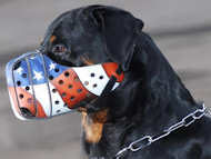 USA Leather Dog Muzzle-Hand-painted Unique Model for Rottweiler