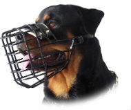 Rottweiler Wire Cage Muzzle for Winter-Basket Wire Dog Muzzle