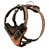 Extra Durable Rottweiler Harness for Agitation/Protection Training