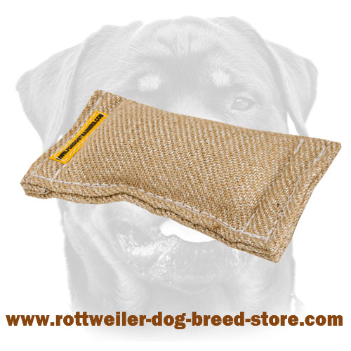 Puppy Training Jute Dog Bite Tug For Rottweiler
