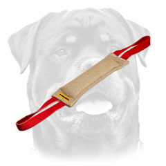Training Jute Dog Bite Tug For Rottweiler     With Two Handles