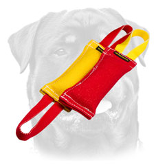 French Linen Rottweiler     Bite Tugs With Handles