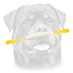 Rottweiler     professional training toy with two handles