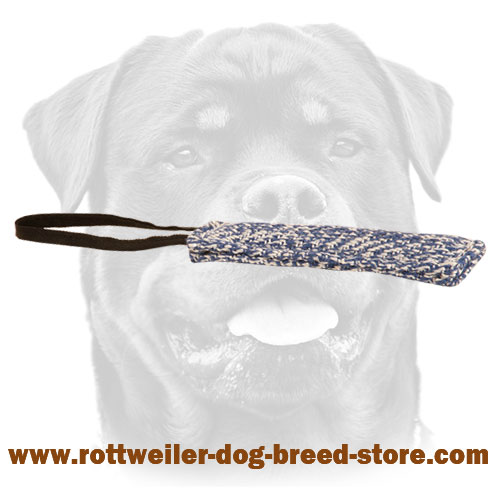 French Linen Bite Tug For Rottweiler