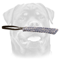 Rottweiler puppy narrow     training tug with one handle