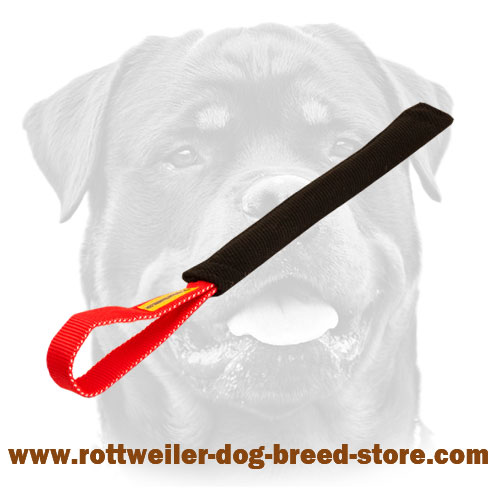 French Linen Rottweiler bite tug for puppies