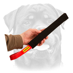 Quality Rottweiler puppy training     tug with comfy handle