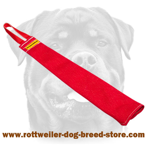 Multifunctional french linen bite rag for Rottweiler