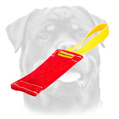 Quality Rottweiler training tug     with comfy handle