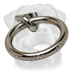 Strong Steel Ring for Rottweiler Fur Saver