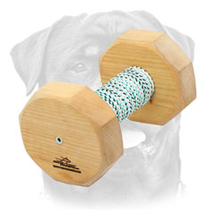 Wooden Dumbbell with Cover For Rottweiler Pro Training