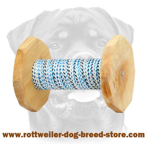 Wooden Dog Dumbbell For Rottweiler 1000g