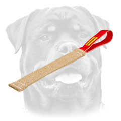 Rottweiler     puppy professional training tug with one handle