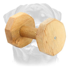 Wooden Dumbbell For Rottweiler Training