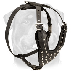 Unique safety leather dog harness
