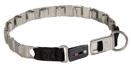 Stainless steel dog collar for Rottwelier 19 inch (48 cm) long