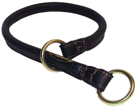 Right Rolled Leather Dog Collar/Choke Collar for Rottweiler