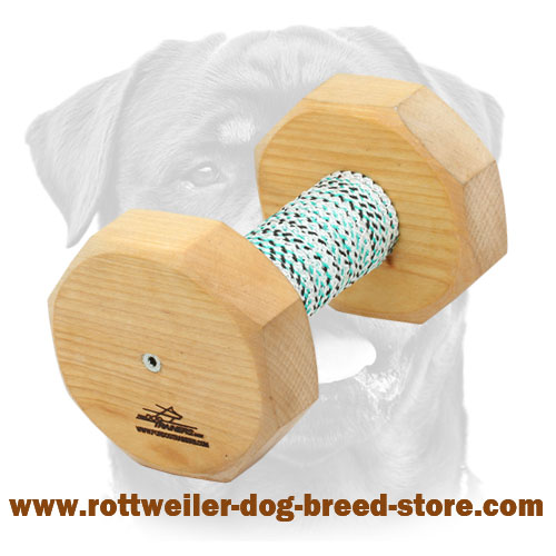 Wooden Dog Dumbbell for Rottweiler - 1000g
