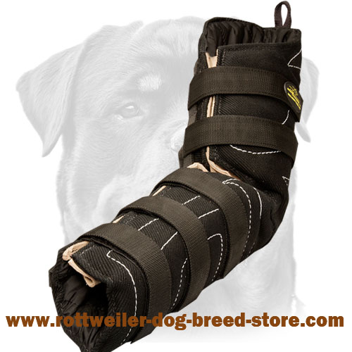 Flexible Hidden Protection Rottweiler Sleeve Made of French Linen for Dog Bite Work