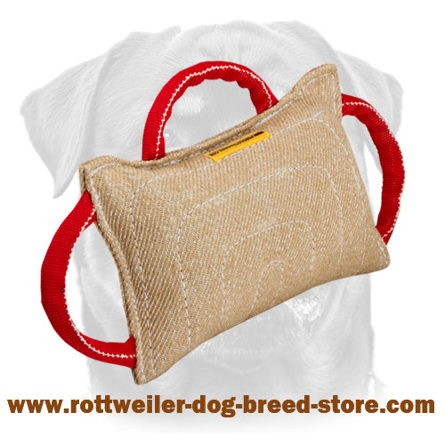 Dog Bite Pillow Made of Jute with 3 Handles