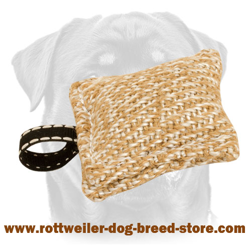 New Training Jute Bite Tug with Small Loop for Rottweiler Puppy