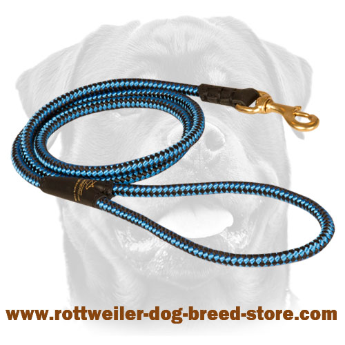Nylon Rottweiler Leash for tracking