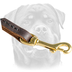 Snap Hook On Leather Dog Leash For     Rottweiler