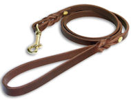 Brown Dog Leash 4 FT width 3/4 inch