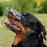 High Quality Rottweiler Basket Muzzle