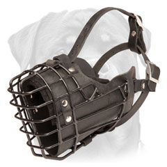Wire Rottweiler muzzle padded from inside