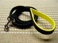 Nylon dog leash with support material on the handle - dog lead