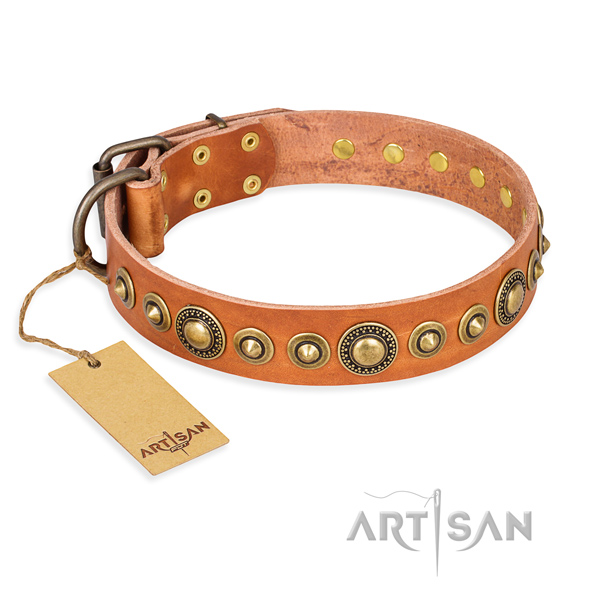 Top notch leather collar created for your pet