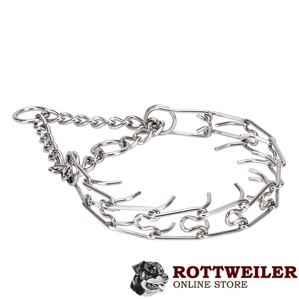 Rust proof stainless steel prong collar for badly behaved dogs