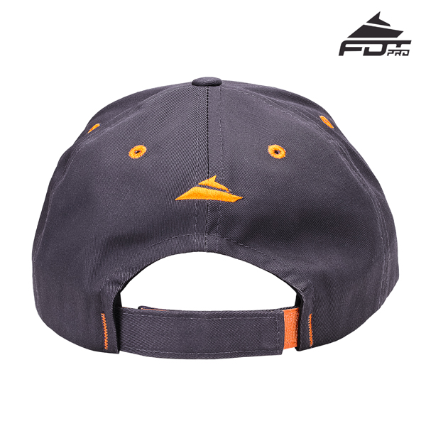Dog Walking Easy Adjustable One-size Snapback Cap of Dark Grey