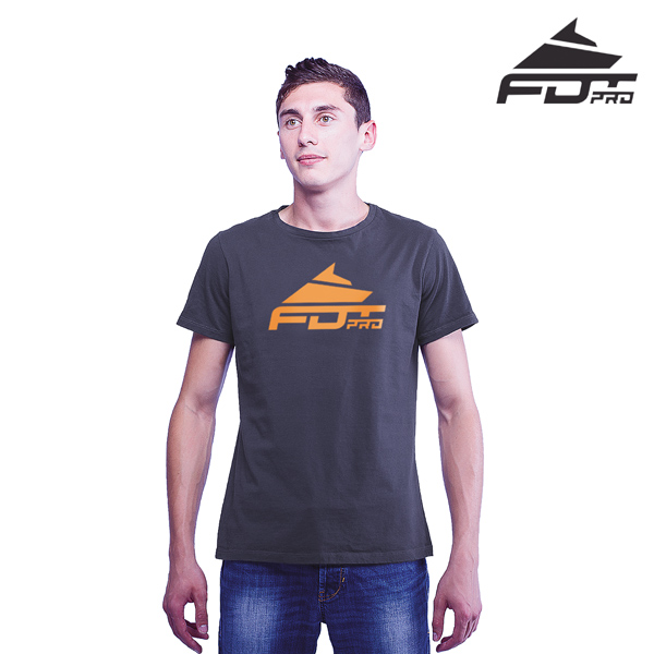 High Quality Cotton Pro Men T-shirt of Dark Grey Color