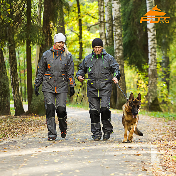 Unisex Strong Dog Tracking Suit for Men and Women with Reflective Trim