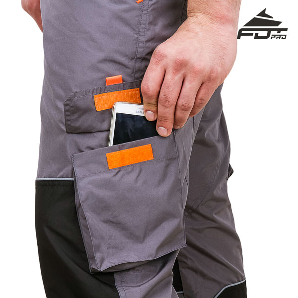FDT Pro Design Dog Training Pants with Comfortable Velcro Side Pocket