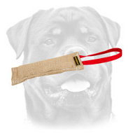 Dog Bite Tag ( Dog Bite Tug ) Made of Jute for Rottweiler
